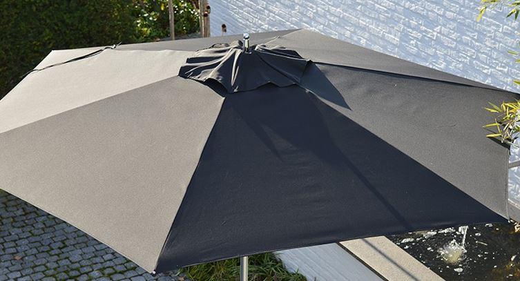 Parasol Sublimo rond bovenaf